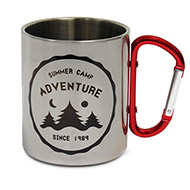 Stainless Steel Mug 300ml Carabiner Handle